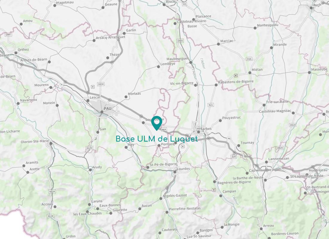 Bases environnantes Base ULM de Luquet